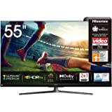 Hisense 55U8QF QLED 139cm (55 Zoll) Fernseher (4K ULED HDR Smart TV, Ultra Premium HD, HDR10+, Dolby Vision&Atmos, Full Array