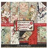 "Stamperia Mini bloc Papier Scrap double Face 10 feuilles 20.3X20.3 (8""X8"") - Oriental Garden, Multi-Colored, 20,3x20,3 cm, Se"
