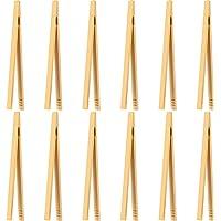 Mudder 12 Pièces Pinces en Bambou Pinces à Pain de Bois Pinces de Cuisine en Bambou pour Cuisson, Pain, Thé aux Fruits…