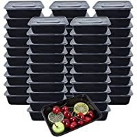 [Lot de 50] 750ml Meal Prep Containers Reutilisable 1 Compartiment Food Container Boite Alimentaire Lunch Box Fait de…