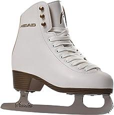 HEAD Eiskunstlauf Schlittschuhe Donna I Knöchelpolster I Damen Schlittschuhe mit Edelstahlkufe I ideal für Einsteigerinnen - Weiß