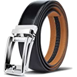 Demon&Hunter P02061 Serie Cintura Uomo Pelle Automatica Cintura Fibbia d'argento Cuoio Uomo Belt Cintura Uomo Nera Cinture in