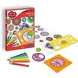 Sentosphère 02081 Art & Creations Kit de Loisir Créatif Spiral Art Mandala Kit de Loisirs Créatifs Enfant Multicolore