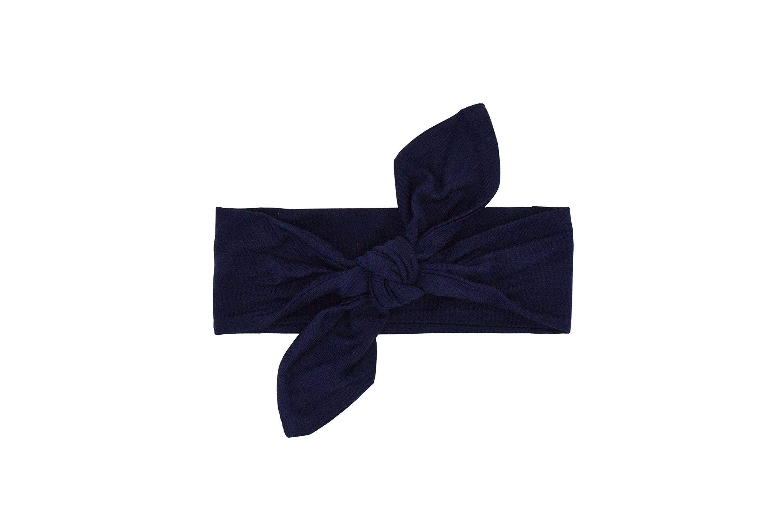 Itzy Ritzy–Parte superior nudo bebé diadema, color azul oscuro
