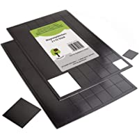 OfficeTree 110 Plaque Aimantée Adhésive - 100 pièces 20x20 mm, 10 pièces 40x40m - auto-adhésives pour une magnétisation…