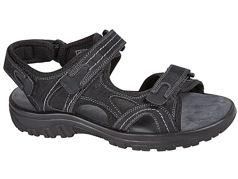 f906138dbb70 Bio Comfort Mens Martin Brown Real Leather Adjustable Touch Fasten Comfort  Gladiator…