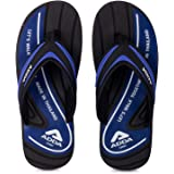 ADDA Jazz Men's Black/Blue EVA,TPR Slipper Flip-Flop