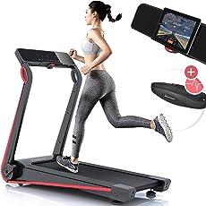 Sportstech F17 Edles Laufband mit App und Easy-Folding System kein Aufbau nötig, Schmiersystem, 12 KM/H, 2.5PS, Pulsgurt Inklusive, Tablet-Holder, Heimtrainer, klappbar für Cardio-Training Zuhause
