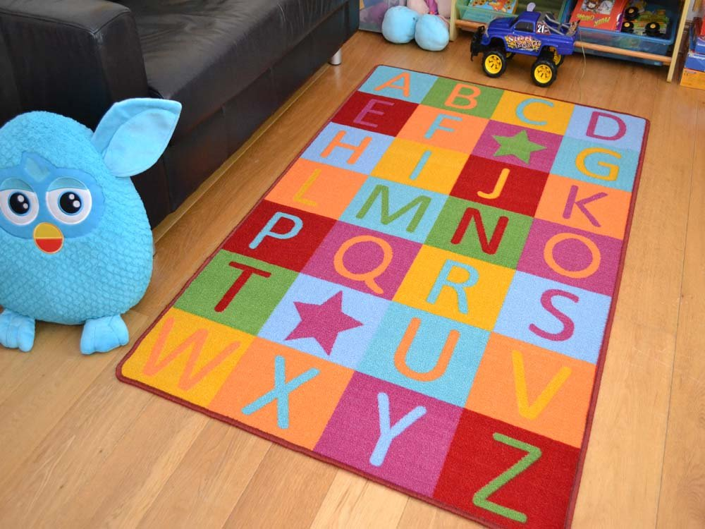 Kids Non Slip Machine Washable Abc Educational Play Mat Available