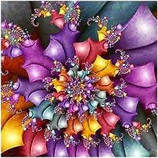 Awakingdemi Full Diamond Rhinestone Painting, olorful Flower 5D Full Diamond Paint Embroidery Cross Stitch DIY Craft