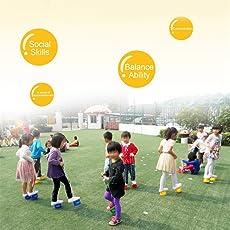 Deanyi Kinder Outdoor Fun Walk Stelzen Jump Smile Face Balance Training Spielzeug Baby Spiel Sport Spielzeug