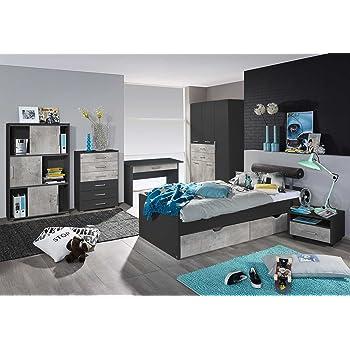 Lifestyle4living Jugendzimmer Komplett Set In Wei Und