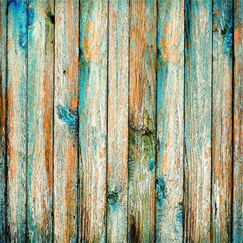 Distressed Holzböden (YongFoto 2x2m Vinyl Foto Hintergrund Holzoptic Altes DunkelBlau Holz Distressed Feeling Shabby Board Fotografie Hintergrund für Photo Booth Baby Party Banner Kinder Fotostudio Requisiten)