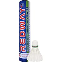 Redway MAX-95 Badminton Shuttlecock || Feather Shuttlecock || White || 10 Piece || Made in India