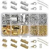 Kissral 370pcs Kit Bijoux Creation Kit Fabrication Bijoux avec Anneaux Ouverts et Extenseurs de la Chaîne Fermoir Mousqueton