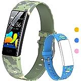 HOFIT Fitness Tracker voor kinderen, fitnesshorloge activiteitentracker met stappentellers, hartslag- en slaapmonitor, stopwa