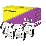 5 Rollen DK11209 DK-11209 29mm x 62mm Adresetiketten Compatibel met Brother P-Touch QL-500 QL-550 QL-560 QL-570 QL-700 QL-800