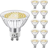 Ampoule GU10 LED Blanc Chaud, Eofiti 6W LED GU10 2700K Equivalence Incandescence 50W Lumière 540LM Lampe GU 10 LED AC…