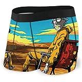 dfgfgm4jg Cartoon Rick Morty Men's Boxer Briefs Microfiber Soft Stretch Boxers Briefs Custom Made