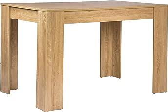 WOLTU Esszimmertisch TSG18hei Küchentisch Esstisch Schreibtisch  Arbeitstisch Holztisch, In Melamin, 120x80x75,5cm(