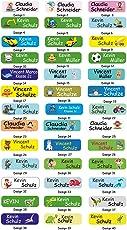 INDIGOS UG Namensaufkleber - Sticker - Namen - 5x1,5 cm - 60 Stück für Kinder, Schule und Kindergarten - individueller Druck - Bitte Geschenknachricht hinterlassen - individuell - personalisiert