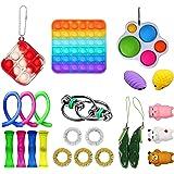 23 stks Fidget Toy Set, Fidget Toys Pack, Bubble Fidget Sensory Toy, Stress Relief Geschenken voor Kids Meisjes Jongens Famil