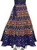 Modern Kart Women's Cotton Wrap Around Skirt(MKSKT061, Black, Free Size)