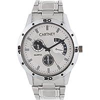 Cartney Analogue Round White Dial Watch for Men (RW4)