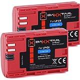 Baxxtar Pro Qualitätsakku (2X) - Ersatz für Akku Canon LP-E6 mit Infochip - Intelligentes Akkusystem -