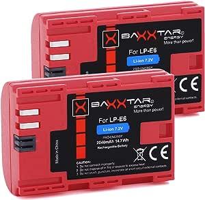Baxxtar Pro Qualitätsakku 2x Ersatz Für Akku Canon Lp E6