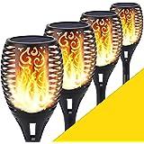 Lumière solaire de torche, lumière de flamme de scintillement de 96 LED allume les,allées de jardin / cour extérieure (lot de