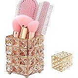 Porta Pennelli Trucco, Porta Pennelli Cristallo, Pennelli Trucco Organizzatore Cristallo, Metallo + Cristallo Elegante Porta
