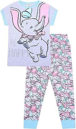 Disney Womens Dumbo Be Happy Long Ladies Cotton Pyjamas