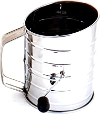 Norpro 3-Cup Stainless Steel Crank Flour Sifter