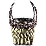 Medonna shoppe Handmade Plastic Multipurpose Washable Wire Basket for Women (8x8x8-inch, Multicolour)