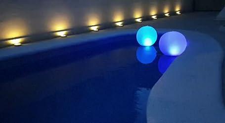 14Au/ßenpool Ball Lampe Garten Strand Weg 2PCS Fernbedienung Schwimmend Schwimmbad Beleuchtung Solar wasserdicht 7 Farbwechsel LED Nachtlicht f/ür Swimmingpool Rasen Garten