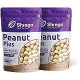SHREGO Peanut Plus Light Roasted Whole Peanut Unsalted 400g, Snacks and Namkeen (2x200g Vacuum Packed)