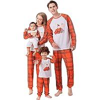 Family Pyjamas Matching Sets Halloween Pumpkin Sleepwear for Baby Adults and Kids Holiday PJS Set