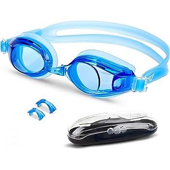 8da65df0fa911 EVEREST FITNESS Schwimmbrille mit Antibeschlag-Schutz und praktischer  Aufbewahrungsbox, größenverstellbar und extra dicht