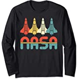 Vintage NASA Gift - Retro Space Shuttle Manche Longue