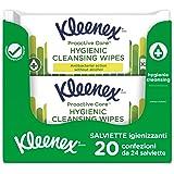 Kleenex Proactive Salviette Igienizzanti Anti Batteriche, 20 Pacchi Da 24 Salviette