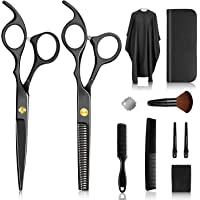 Synchain Haarschere Set, Hochwertiger Scharfer Haarschneideschere, Licht Efriseurschere mit Einseitiger Mikroverzahnung…