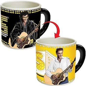 Timeless Elvis Presley Heat Changing Mug - Fügen Sie Kaffee oder Tee hinzu und Elvis geht von Vegas nach Memphis - Wird in einer lustigen Geschenkbox geliefert