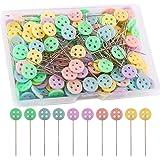 LUTER 200 Piezas Alfileres De Cabeza Plana Con Caja De Almacenamiento Colores Surtidos Alfileres Decorativos Para Modista Art