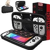 Orzly draagtas compatibel met Nintendo Switch en nieuwe Switch OLED console - zwart Beschermende harde draagbare reisdraagtas
