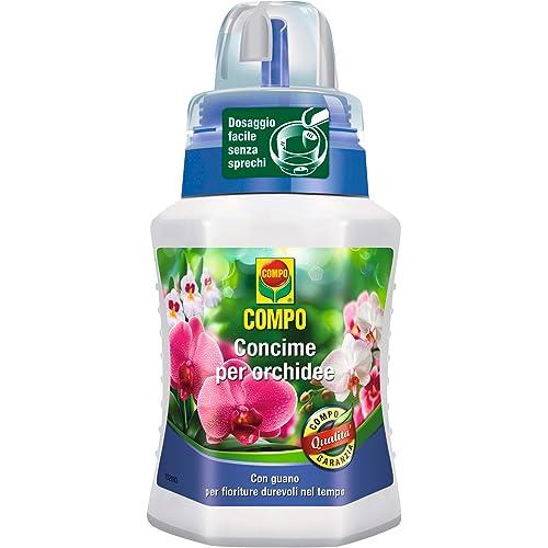 Compo Concime Liquido per Orchidee, Fertilizzante Organo Minerale, Stimola la Fioritura, 250 Ml, 7 X 6.3 X 15.5 Cm
