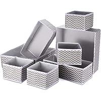 8 Panier Tissus Rangement Boîte de Rangement Pliable Ouvertes Organiseur de Tiroir en Tissu avec 3 Tailles pour…