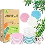 22 stuks herbruikbare katoenen pads voor gezicht, herbruikbare en wasbare make-up remover pads, bamboe katoenen pads, bamboe