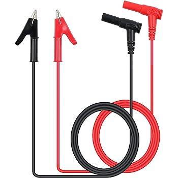"Male to Male Plug Test Lead Cable 1set High-quality 2.6/"" 0.8M Dual Banana Male"