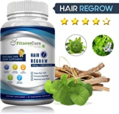Fitnesscure 100% Natural & Organic Hair Regrow Extract 800 Mg 60 Capsules